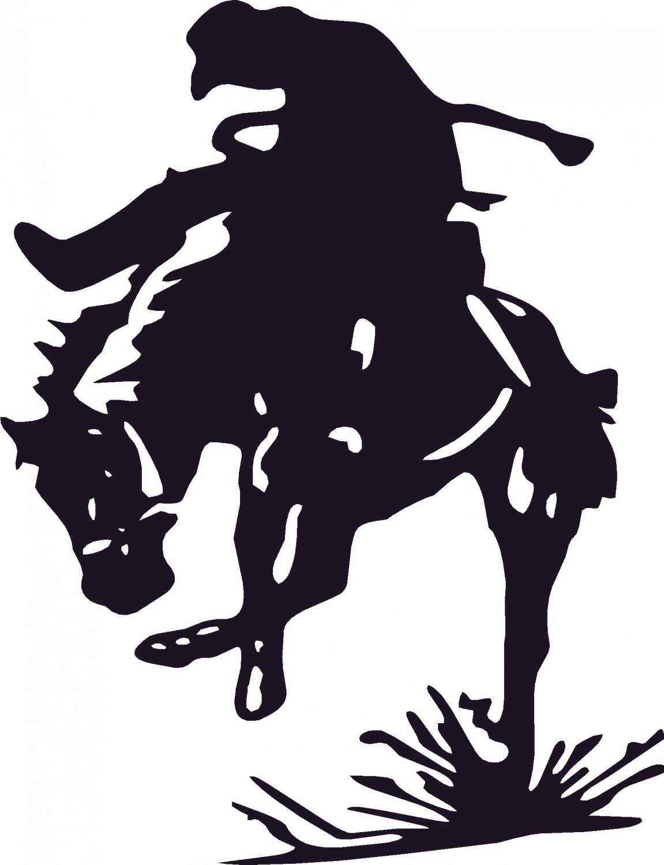 bucking bronco rodeo cowboy vinyl decal sticker