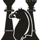 CHESS PLAYER AUTO TRUCK VINYL DECAL STICKER
