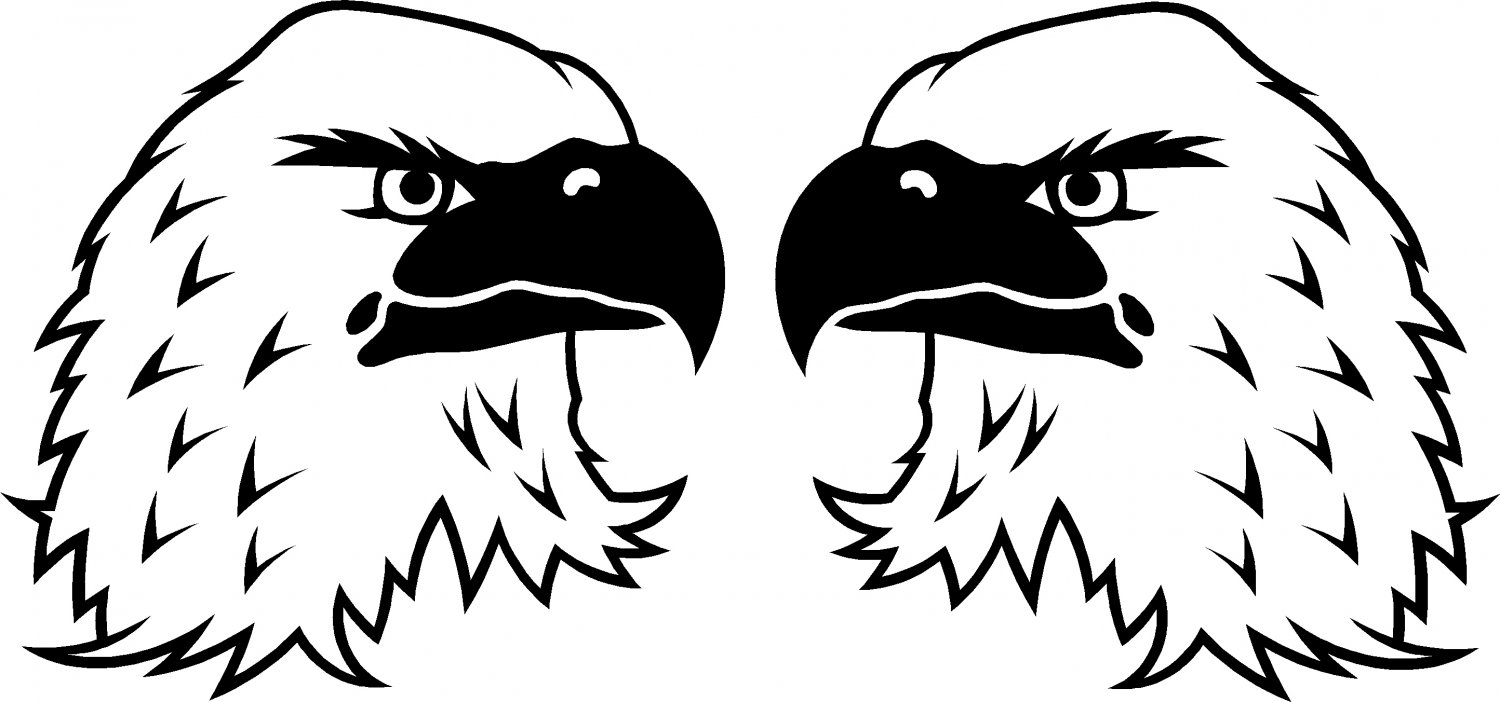 EAGLE HEAD VINYL DECAL STICKERS...PRICE IS FOR 2