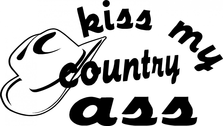 KISS MY COUNTRY ASS 4 X 4 BULLRIDER RODEO ROPING VINYL DECAL STICKER