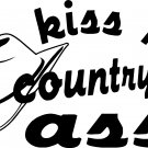 KISS MY COUNTRY ASS 4 X 4 BULLRIDER RODEO ROPING VINYL DECAL STICKER