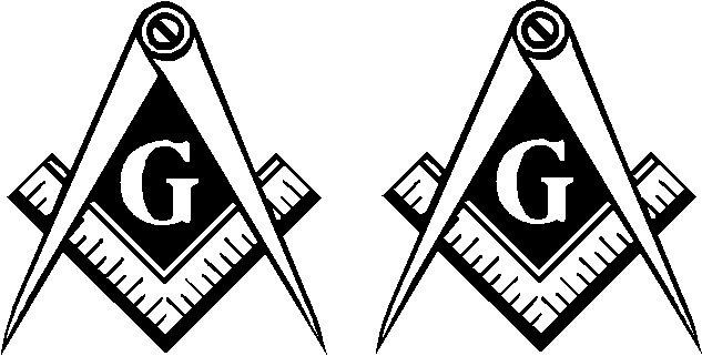 free mason g masonic mason vinyl decal sticker set of 2