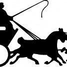 "stagecoach vinyl decal sticker 8.65"" wide!"