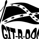 rebel flag git r done vinyl decal sticker