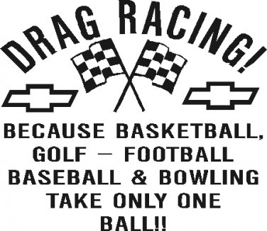 drag racing vinyl decal sticker