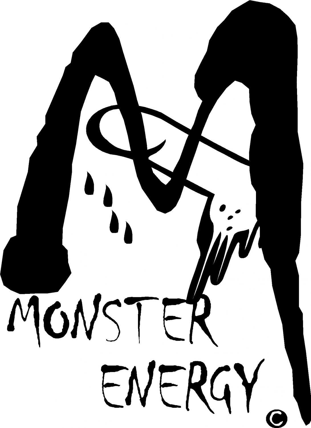 """monster penis sexual staying power vinyl decal sticker almost 8"""" tall!"""