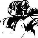 horse racing race horse jockey vinyl sticker decal