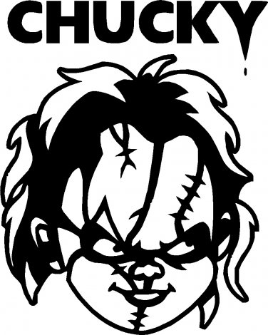 CHUCKY  VINYL DECAL STICKER