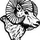 "RAMS HEAD VINYL DECAL STICKER 7"" TALL & DETAILED!!"