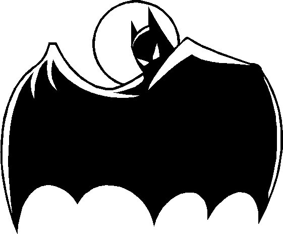 batman looking from behind cape vinyl decal sticker