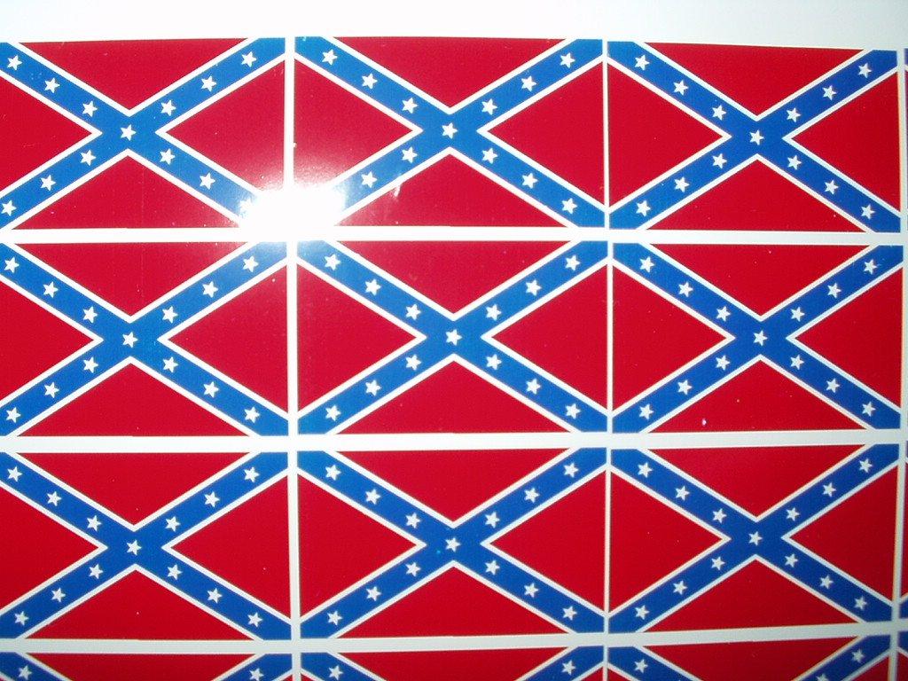 "REBEL FLAG SET OF 4 1.9"" X 1.25"" VINYL DECAL STICKERS"