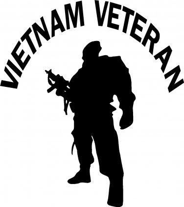 vietnam war veteran vinyl decal sticker