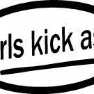 GIRLS KICK ASS VINYL DECAL STICKER