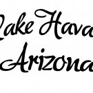 "lake havasu city arizona vinyl decal sticker 8.75"" wide!"
