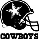 "DALLAS COWBOYS HELMET VINYL DECAL STICKER 6"" TALL"