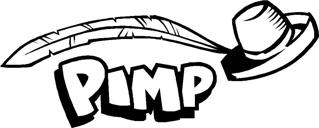 """PIMP VINYL DECAL STICKER 8.5"""" WIDE!"""