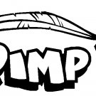 "PIMP VINYL DECAL STICKER 8.5"" WIDE!"