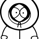 kenny from south park vinyl decal sticker