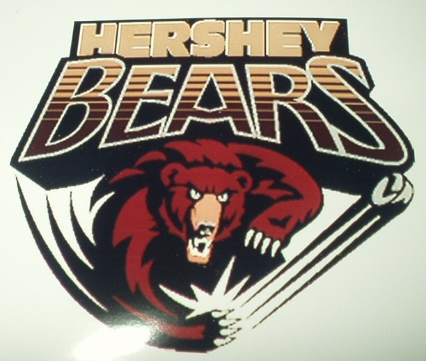 "HERSHEY BEARS AHL HOCKEY LAPTOP PHONE VINYL DECAL STICKER 2.5"" WIDE X 2.25"" TALL"