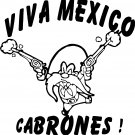 TAZ VIVA MEXICO CABRONES VINYL DECAL STICKER