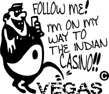 GAMBLER GAMBLE INDIAN CASINO ANTI LAS VEGAS ALCOHOL vinyl decal sticker