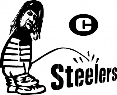 "CINCINNATI BENGALS PEE PISS ON PITTSBURGH STEELERS VINYL DECAL STICKER 7"" WIDE!"