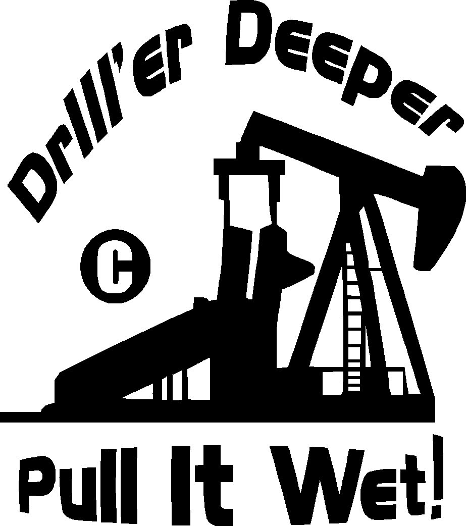 "oil field worker roughneck vinyl decal sticker 10"" tall !!"