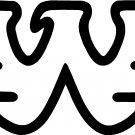 """WAYLON JENNINGS W VINYL DECAL STICKER 18"""" WIDE!!"""