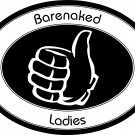 "bare naked ladies vinyl decal sticker 7"" wide!"