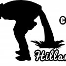 pee piss poo diarrhea on hillary vinyl decal sticker