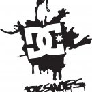"dc shoes splash viny decal sticker 7"" tall!"