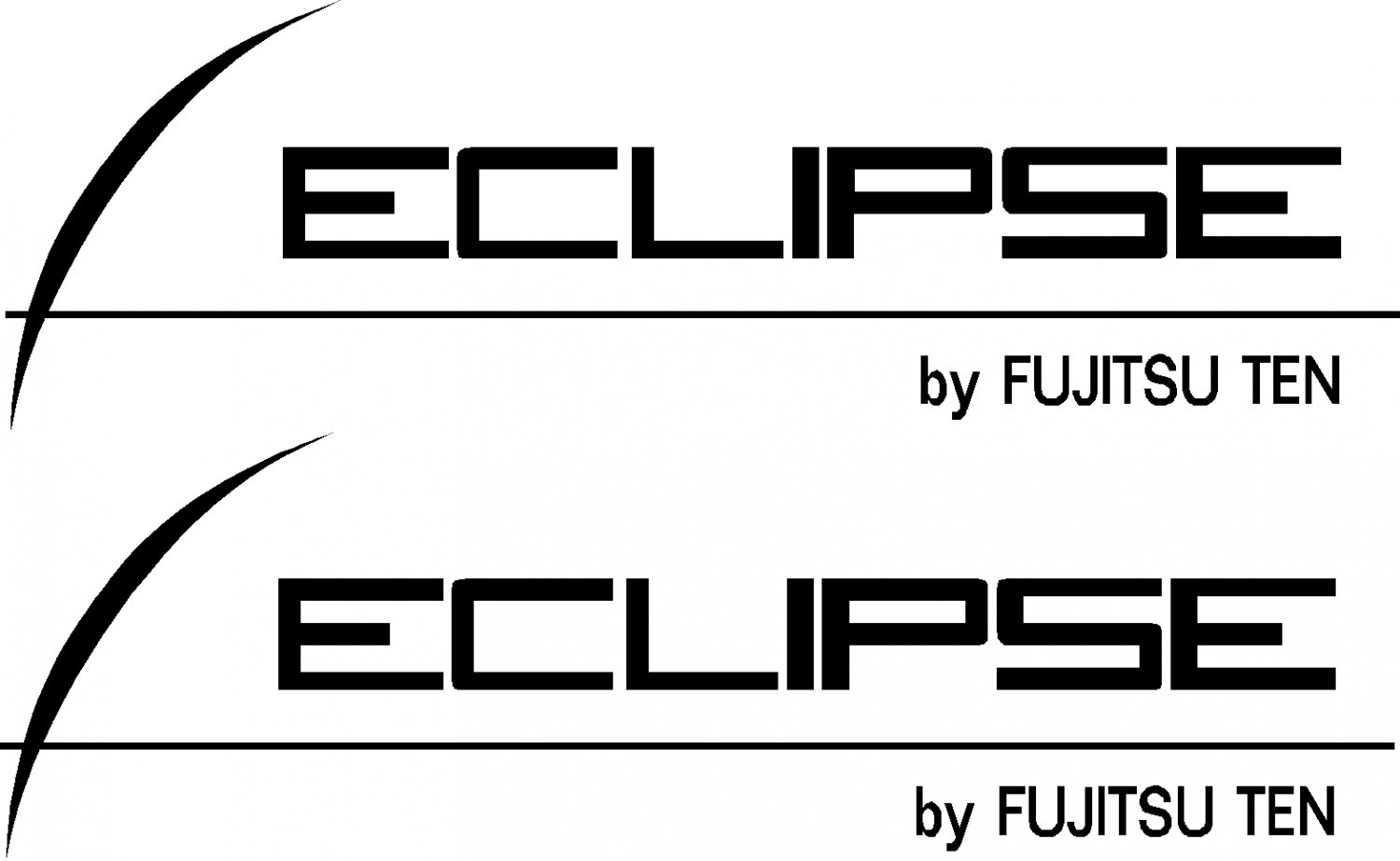 "eclipse stereo by fujitsu ten vinyl decal  sticker 8.5"" wide set of 2"
