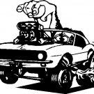 "camaro flaming racing vinyl decal sticker 7"" wide!"