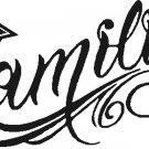 FAMOUS STARS AND STRAPS FAMILIA VINYL STICKER DECAL