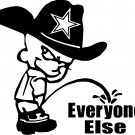 dallas cowboys pee piss on everyone else vinyl decal sticker