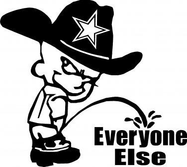 dallas cowboys pee piss on everyone else vinyl decal sticker