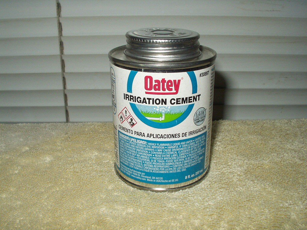 """irrigation pvc cement Oatey #30897 quicker cure 8 oz 6"""" max pipe/fitting size"""