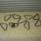 steel metal triangle links as shown lot of 9
