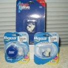 swimming nose clip and ear plug set + case lot of 2 aqua & deap dive brands