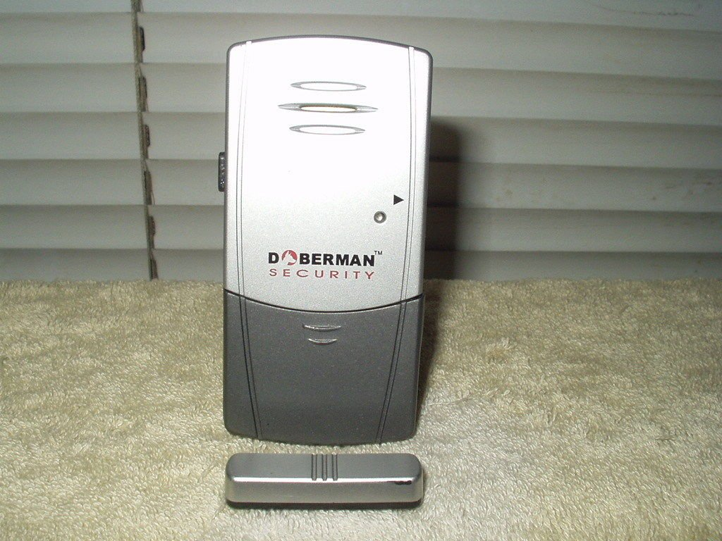 door and window defender w/ chime patio entry security alarm by doberman