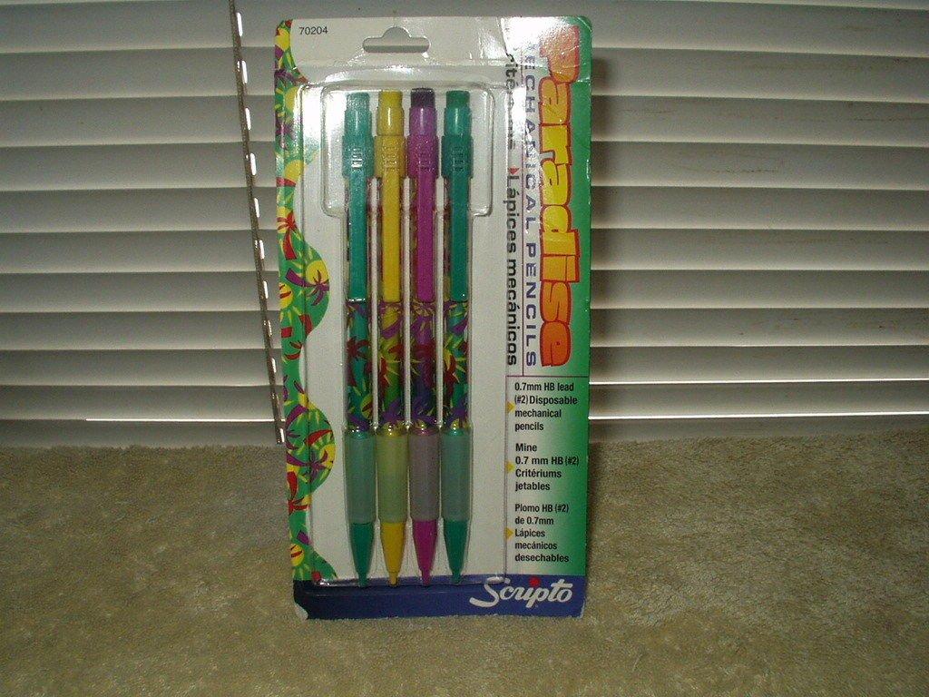 vintage scripto paradise mechanical pencils set of 4 disposable # b5149p sealed