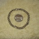 """7"""" long ankle wrist silver link metal bracelet costume jewelry"""