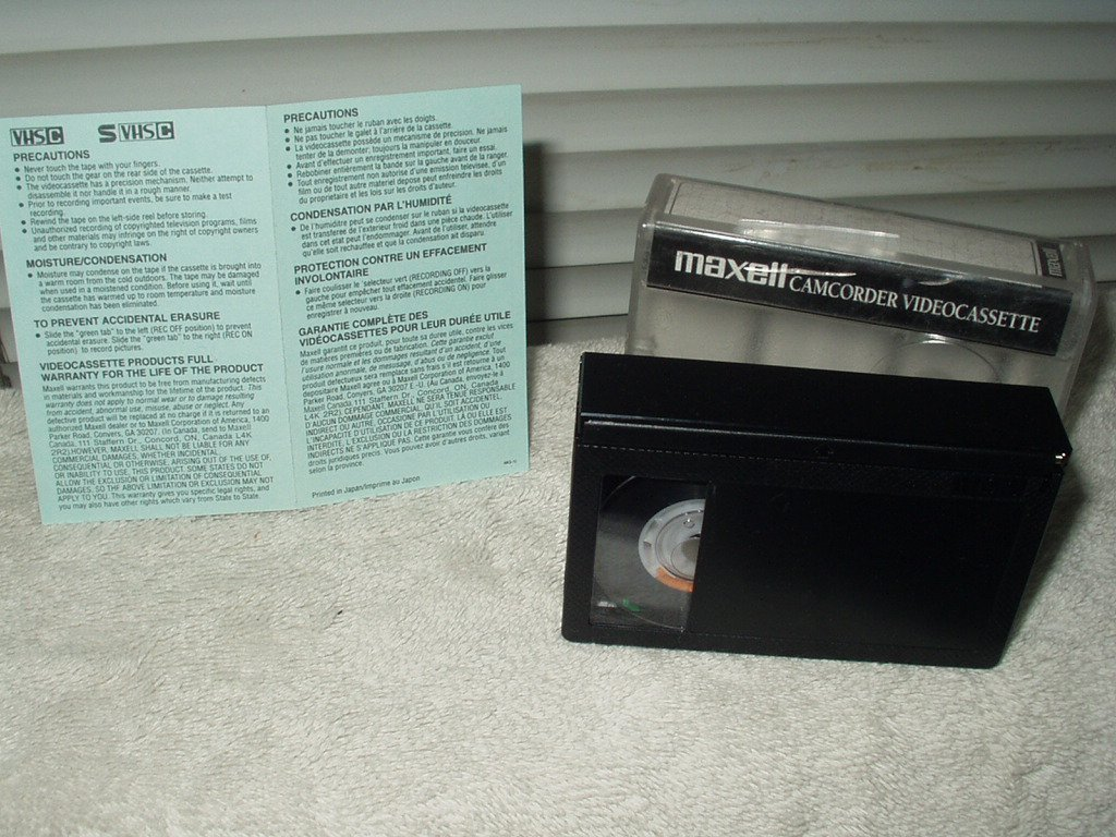 maxell 30 min camcorder video cassette