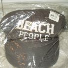 beach people unisex dark gray hat sealed adjustable pre-shrunk