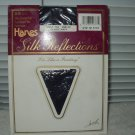 hanes silk reflections control top pantyhose classic navy style 718 size ef  vintage