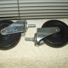 "swivel ball bearing caster 4"" x .85"" hard rubber wheel & threaded stem"