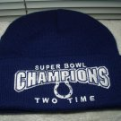 indianapolis colts winter hat 2 two time super bowl champion V & XLI licensed