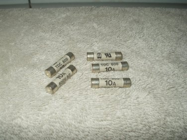 tdc 600 fuse 10 amp 600 volt ac new old stock lot of 1 each