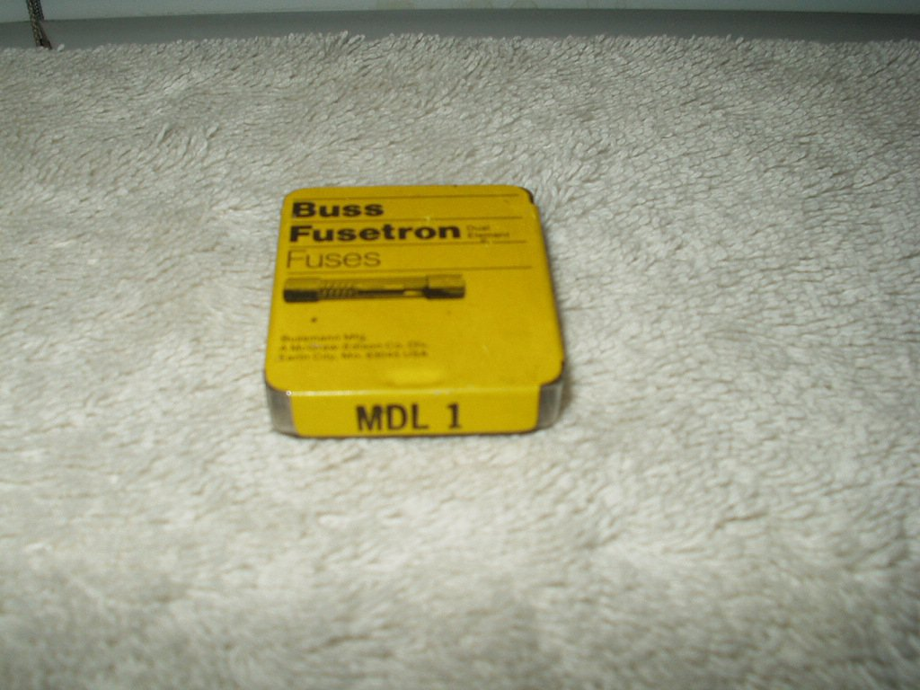 buss mdl 1 slow acting for inductive circuits lot of 3 ea total per order