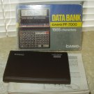 casio pf-7000 data bank telephone number memos calculator vintage 1980's